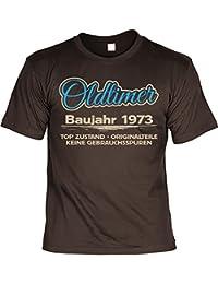 sabuy T-Shirt - Oldtimer Baujahr 1973 Top Zustand - Originalteile Braun - Geschenk 45. Geburtstag Shirt Jahrgang Spruch Humor Fun