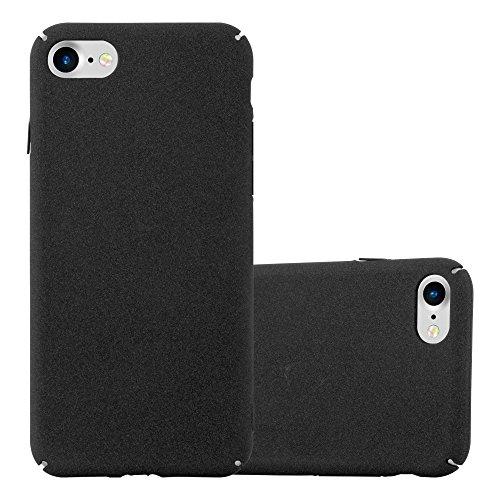 Preisvergleich Produktbild Cadorabo Hülle für Apple iPhone 7 / iPhone 7S / iPhone 8 - Hülle in Frosty SCHWARZ – Hardcase Handyhülle im matten Frosty Design - Schutzhülle Bumper Back Case Cover