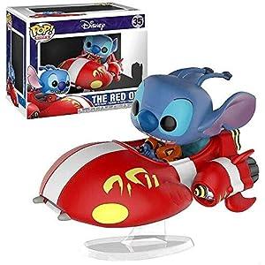 Funko Pop Stitch montado en The Red One (Lilo y Stitch 35) Funko Pop Disney