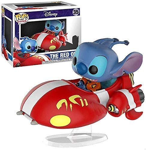 Funko Pop Stitch montado en The Red One (Lilo y Stitch 35) Funko Pop Disney