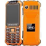 Vkworld Stone V3S / Zilong Teléfono Móvil Impermeable de IP54 Protección a Prueba de Agua y Polvo y Golpes con Batería 2200mAh que Trabaja 720 horas para Exterior( Anaranjado) )