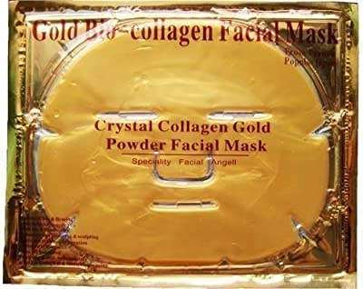 6 XGold Bio-Collagen Facial Mask, Anti-Aging, Hydrating, Moisturizing Face Mask by Let go 1