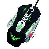 LogiLink ID0156 USB Gaming Maus mit zusätzlichen Gewichten und optischen Präzisionssensor schwarz
