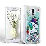 Mosoris Coque Galaxy Note 4 Glitter Liquide Cover Mode 3D TPU Etui Note 4 Etui...