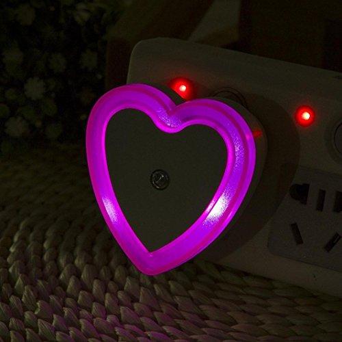 Vakuum-steckdose (sunnymi Liebe Lichtsteuerung LED-Steckdose Leuchtet Energiesparende Nachtlicht Ring Lichter/Extrem Geringer Stromverbrauch/LED Nachtlicht Lampe/Topf Aus Keramischer Nachahmung (Pink))