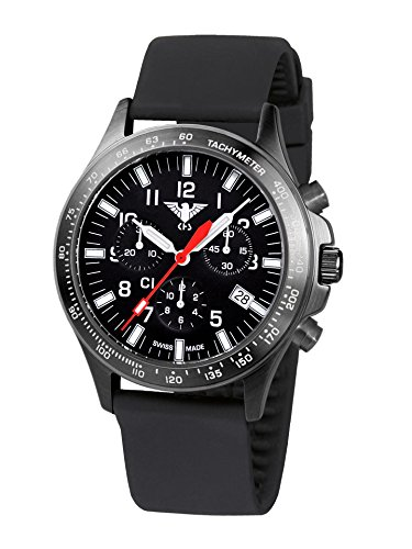 KHS Mens Watch Black Platoon Chronograph C1 KHS.BPCC1.SB