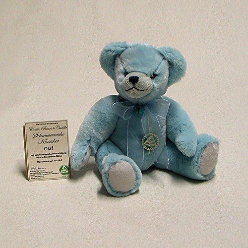-2 Olaf Teddybär hell-blau 30 cm Schmuseweiche Klassiker - Made in Germany ()