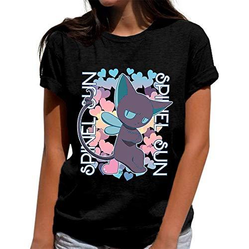 ALTcompluser Anime Cardcaptor Sakura T-Shirt Spinel Sun Kurzarmshirt Sommer Top Print Shirt Casual O-Neck(L) (Sakura Card Captor Kostüm)