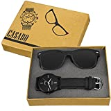 #6: CASADO Ultra Black Slim Watch and Matte Black Sunglass 168x1