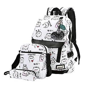 51YMXR3Z9fL. SS300  - wewo Mochila Escolar Colegio Niña Mochilas Escolares Chica Estudiante Mochilas Mujer Backpack Laptop Ordenador…