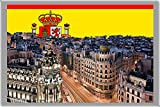 MADRID FRIDGE MAGNET, THE CAPITAL CITY OF SPAIN CALAMITA DA FRIGO
