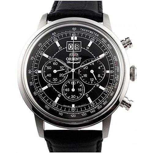 Orient-Armbanduhr Armband Leder Quarz Analog FTV02003B0