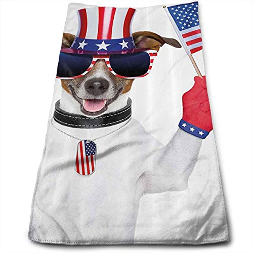 Funny Pet Dog Hat Multi-Purpose Microfiber Towel Ultra Compact Super Absorbent and Fast Drying Sports Towel Travel Towel Hair Beach Towel - Hat Wall Rack Blue