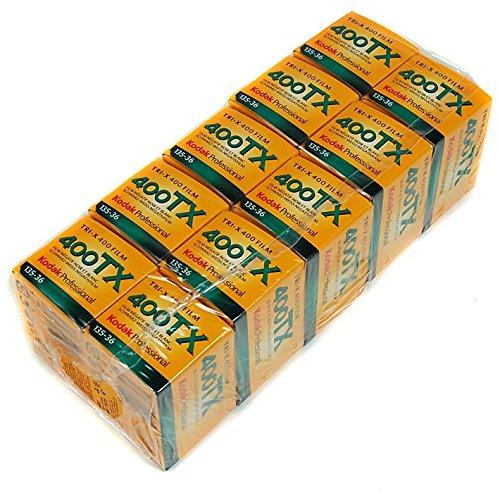 Lot de 10 pellicules Kodak TX 135-36TRI-X Pan, impression Noir et blanc (ISO-400)