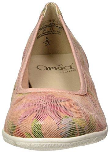 Caprice Ladies 22150 Ballerine Chiuse Rosse (rosa Multi)