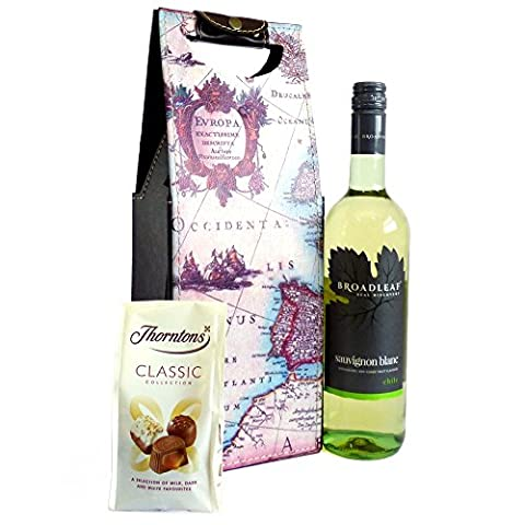 White Wine and Chocolate Gift Set with Thorntons Chocolates and