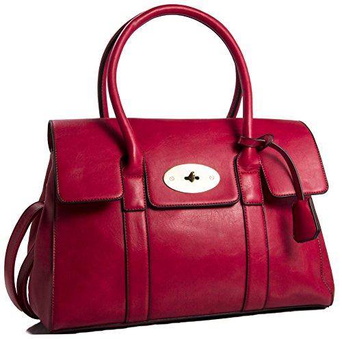 Holgura En Línea Big Handbag Shop da donna in ecopelle design Boutique Maniglia Superiore Borsa a tracolla Red Envío Libre En Italia 2eBxOjmqy