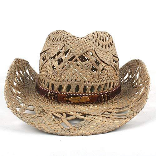 Sehr weich und angenehm zu tragen AZR Mode Damen Herren Western Cowboyhut Roll-Up Breiter Krempe Cowgirl Jazz (Warmes Wetter Fedora)