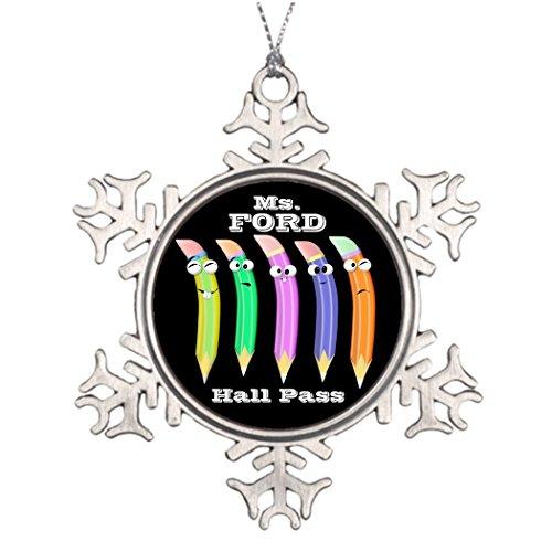 Tee popo Baum-Dekoration Figuren Schule Flur Pass - Bleistifte - SRF Weihnachten Schneeflocke Ornamente Abstand