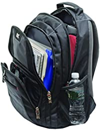 """Wenger Pillar 16""""  Hochwertiger Rucksack in sportlicher Optik und sicheren Schutz für das Notebook, Laptop Rucksack in schwarz/grau"""