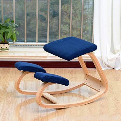 Qucasyl Kniestuhl, ergonomischer Kniestuhl, orthopädische Hockerhaltung Gestellhocker, der kniet, fördern eine Gute Haltung für das Büro zu Hause,Blau