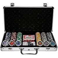 Kein Hersteller 300 Poker Chips with Aluminiumcase (11.5 Gramm. Chips Laser)