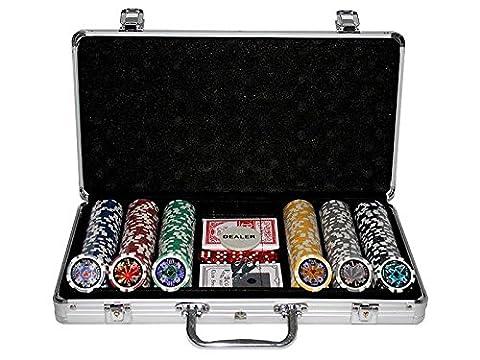 DIVERS Malette de poker en alu + 300 jetons (jetons