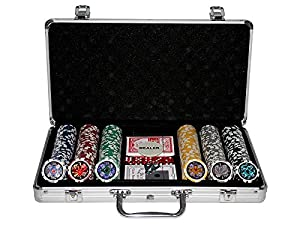 Kein Hersteller 300 Poker Chips with Aluminiumcase (11.5 Gramm. Chips Laser)