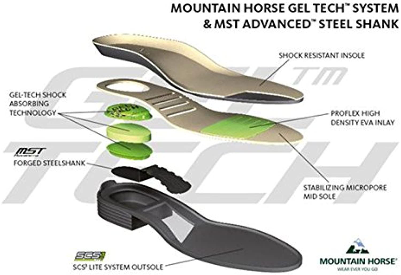 Mountain Horse Supreme High Rider Napa piel confort hípica competencia para, negro, UK 3 / EU 36 / US 5 / AU 5