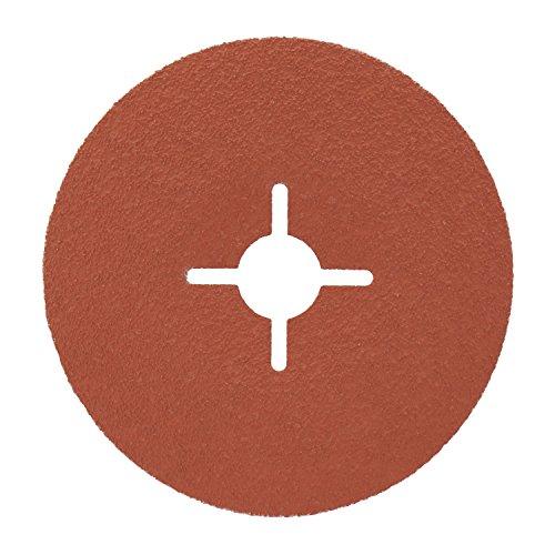 3M Cubitron II Fiberscheibe 987C – Schleifmittel mit Hochleistungs-Keramikkorn für Edelstahl & Metall – 125 mm Vulkanfiber-Schleifscheibe mit 60+ Körnung für Winkelschleifer – 5 Stück