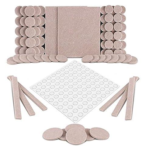 Protection pour Meubles,190Pcs Patins pour Meubles Léger Auto-Adhésif Pads Protection de Meubles Table Chaise Pied Coussinet Tampons pour Pieds de Meubles,pour protéger le plancher en bois ,chaise ,table ,sofa etc-Multi Size