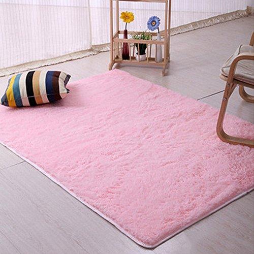 Originaltree Shaggy Teppiche für Wohnzimmer Slip Resistant Fluffy Soft Teppich Raum Bereich Teppich Schlafzimmer Mat size 50cm by 80cm (Rosa) Teppiche Mat