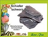 1 kg Schiefer schwarz, Aquarium, Terrassenbau, Dekoration