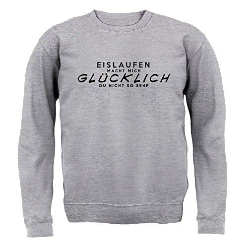 Eislaufen macht mich glücklich - Unisex Pullover/Sweatshirt - Grau meliert - XL