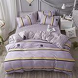 HWW Children's bedding Betten die Teenager Jungen Kind Steppdecke Bettw?Sche Bettw?Sche und Kissenbez¨¹ge Vier St¨¹Cke von Cartoon Einzelbett, B, 1,2 m (4 Fu?)