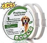 PROZADA [2PCS] Collares Antiparasitario para Perros, Prevención de Pulgas y Garrapatas - Hipoalergénico, Collar de Pesticida Ajustable a Prueba de Agua