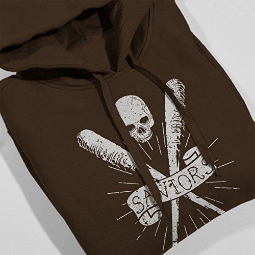 Walking Dead Saviors Crest Women's Hooded Sweatshirt Chocolate