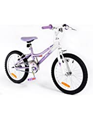 "18"" Flutter Girls KIDS BIKE - Childrens SILVERFOX Bicycle in PURPLE Ages: 6 - 9"