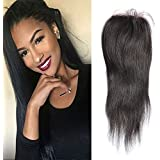 12\ , Free Part : Sunwell Brazilian Virgin Human Hair 3.5x4 Lace Closure Free Part Straight Remy Lace Front Closure...