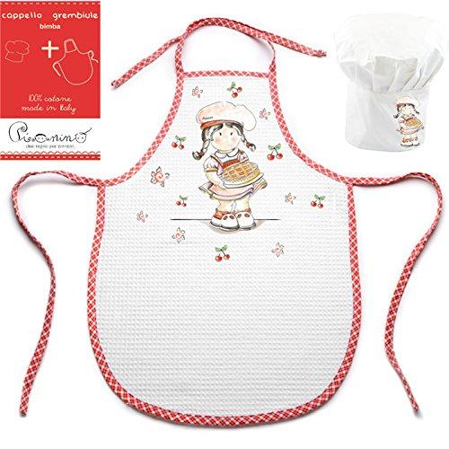 Kit da piccoli chef in cucina! Il grembiule e il cappello di Pia pasticcera