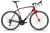 "Bicicleta de carretera de carbono HEAD I - SPEED I 28"" negro mate / roja"