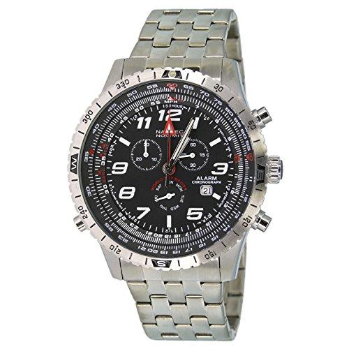 Nautec SC2 QZ-ALA/STSTSTBK No Limit Men's Watch XL Scirocco 2Chronograph Quartz Stainless Steel