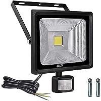 Projecteur LED avec Detecteur de Mouvement, 50W LED Éclairage de Sécurité Extérieur, Projecteur led Extérieur avec Detecteur (Noir -01)