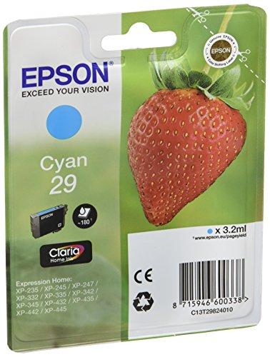 Epson 29 Serie Fragola, Cartuccia originale getto d'inchiostro Claria Home, Formato Standard, Ciano