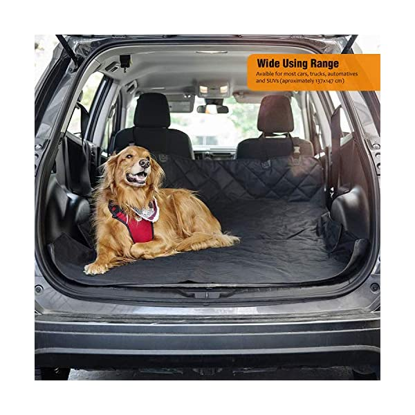 AMZPET Dog Car Seat Cover for Dogs, Waterproof with Door Protection, Durable Nonslip Scratch Proof Washable Pet Back Seat Cover. 3-in-1 Car Seat Protector, Boot Liner, Dog Travel Hammock for all Cars 5