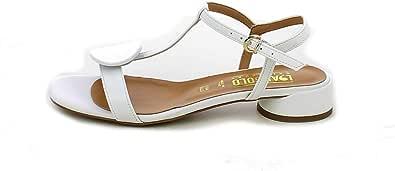 L'ANGOLO CALZATURE - Sandalo Bianco con Bottone