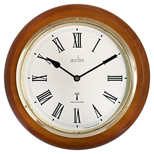 acctim-74430-durham-radio-controlled-wall-clock-walnut