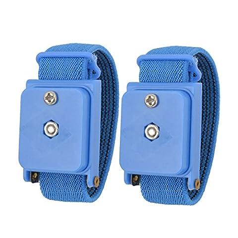 Bracelet Antistatique - Bleu extensible Bracelet anti-statique dragonne sans
