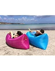 Coussin Gonflable à air vikidoo Air Bed remplissage facile idéal pour se détendre Camping Parc, plage en Polyester, résistant à l'usure, se Gonfia en quelques secondes