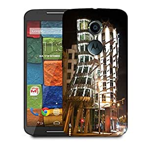 Snoogg Abstract Buildings Designer Protective Phone Back Case Cover For Moto X 2nd Generation